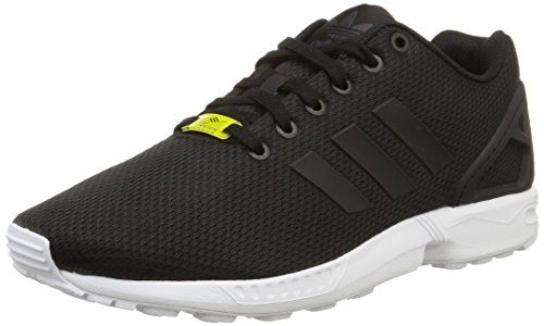 adidas Originals ZX Flux, Herren Sneakers, Schwarz (Core Black/Core Black/White), 43 1/3 EU (9 Herren UK)