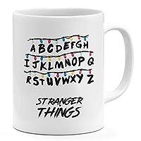 أبجدية غريبة الأشياء 11أوقية قدح القهوة البرنامج التلفزيون أشياء غريبة 11oz السيراميك الجدة