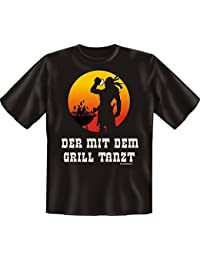 "Rahmenlos T-shirt Inscription en langue allemande ""Der mit dem Grill tanzt"""