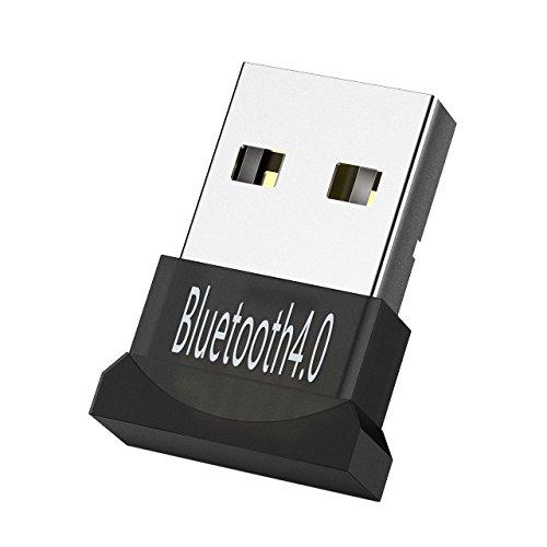 Mpow Adattatore Bluetooth USB per PC,Dongle Bluetooth USB Adattatore Bluetooth V4.0 Trasmissione a Doppia Modalità per PC Desktop Computer con Windows 10, 8, 7,2003 Vista, XP Compatibile con Cuffie, Altoparlanti Mouse Bluetooth, Tastiera
