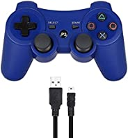 PS3 Controller Wireless Dualshock 3 Joystick, Remote Bluetooth Sixaxis Control Gamepad Heavy-duty Game Accesso