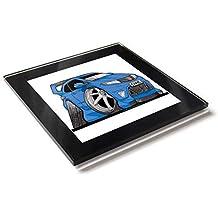 Koolart - Posavasos de cristal con caja de regalo para Honda Civic Type R 10 cm
