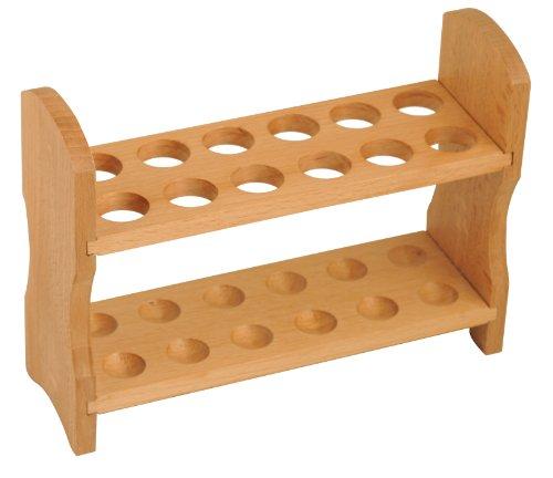 eisco Labs Holz Test Tube Rack, 12Tube Kapazität, 7/20,3cm (22mm) Löcher