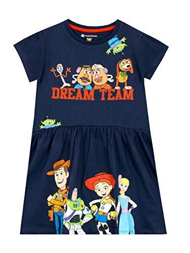 Buzz Und Kostüm Jessie - Disney Mädchen Toy Story Kleid Blau 140