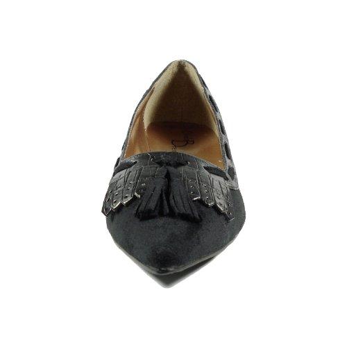 Ornela Brenti 33041-601 Damen Schuhe Premium Qualität Western Pumps Schwarz (Schwarz)
