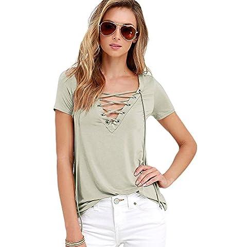 MEINICE - T-Shirt - Femme - Vert - L