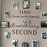 """Luckkyy® Wandaufkleber, """"Time spent with Family is Worth Every Second"""""""