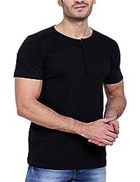D-Code Men's Henley Neck Half Sleeve Cotton T-Shirt