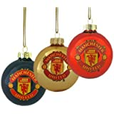 Manchester United FC. 3pk Round Baubles