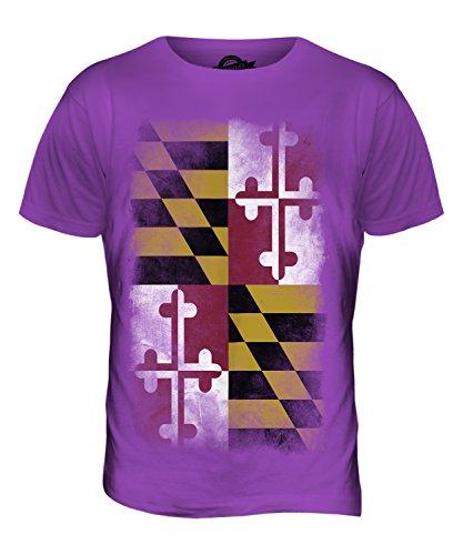 CandyMix Bundesstaat Maryland Verblichen Flagge Herren T Shirt Violett