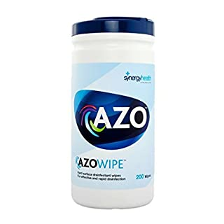 Synergy Healthcare 81103 Azo Disinfectant Wipe, Hard Surface (Pack of 200)