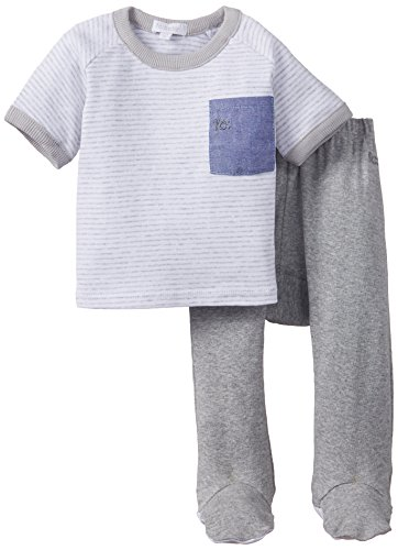 French Connection Kids Baby Girls' Clothing Set (CB1504-MID GREY MARL_size-3-6m)