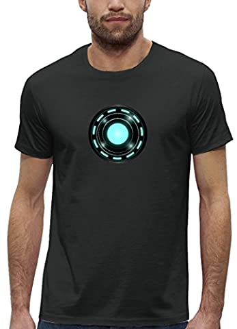 Kult Film Premium Herren T-Shirt aus Bio Baumwolle Arc Reactor Stanley Stella , Größe: M,Anthrazite