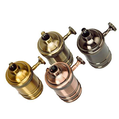 TYI 4PCS Retro Lampenhalter Light Sockets Medium Socket Vintage Screw Light Holder-200°C Heat Resistant No Fire Hazard-for DIY Projects -