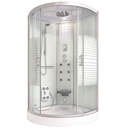 Home Deluxe - Duschkabine - White Pearl - 100 x 100 x 220 cm - inkl. komplettem Zubehör