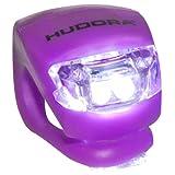 Hudora LED Licht für Lenker Lenkerlicht für Roller Scooter Cityroller Big Wheel 125 144 205 (LILA)