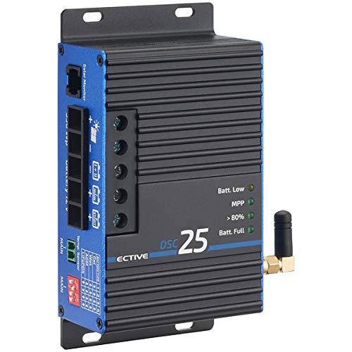 ECTIVE 25A 350Wp MPPT Solar-Laderegler Dual DSC 25 BT für zwei 12V Batterien mit Bluetooth-Funktion und APP in 4 Varianten