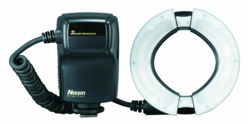 Nissin N059 MF18 Ringblitz für Nikon i-TTL über 4 LED Batt Magazin inkl. Adapterringe 52/58/62/67/72/77