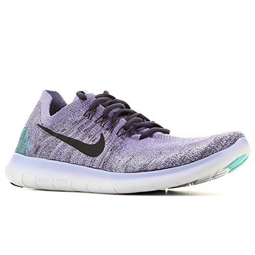 Womens Thistle (Nike Womens Free RN Flyknit 2017 Running Shoes Light Thistle/Black/Raisin 880844-501 Size 7.5)