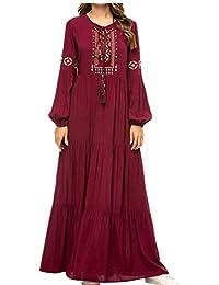 01aa030e73e2 zhruiqun Abaya Donna Islamico Abiti Musulmani - Caftan Dubai Jalabiya  Vestiti Maxi Dress