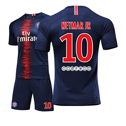 10# Neymar JR daSilvaSantosJúnior Jungen und Mädchen Kinder Erwachsene Männer und Frauen Trikots Fußball Fußball Shorts Hemd Weste Anzug-Blue-XL