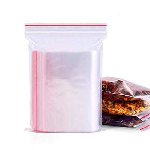 honbay 200Stück transparent PE-Beutel Reißverschluss wiederverschließbaren Kunststoff Einweg Aufbewahrungsbeutel 10,2x 15,2cm (Jumbo Kunststoff Geschenk-taschen)
