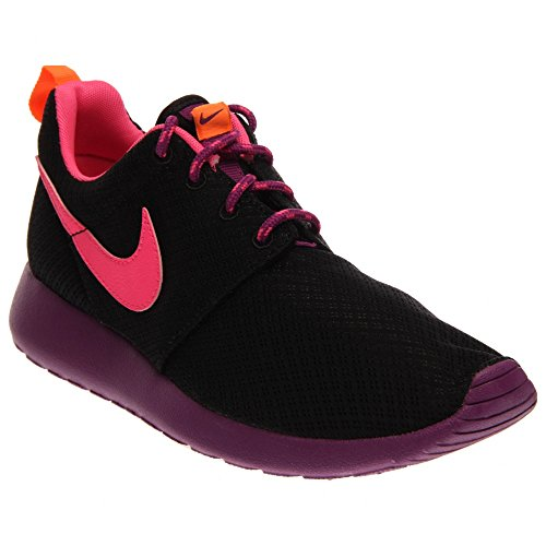 Nike Roshe Run, Chaussures de running fille Black Purple