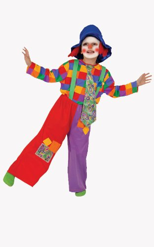 Dress Up America Bunte Jungen Clown Kostüm (Kostüm Floppy Ohren)