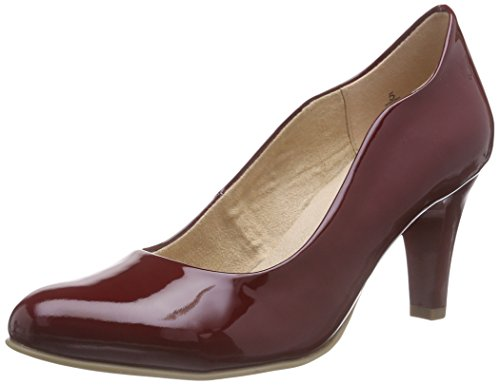 Caprice22406 - Decolleté chiuse Donna , Rosso (Rot (RED PATENT 505)), 38