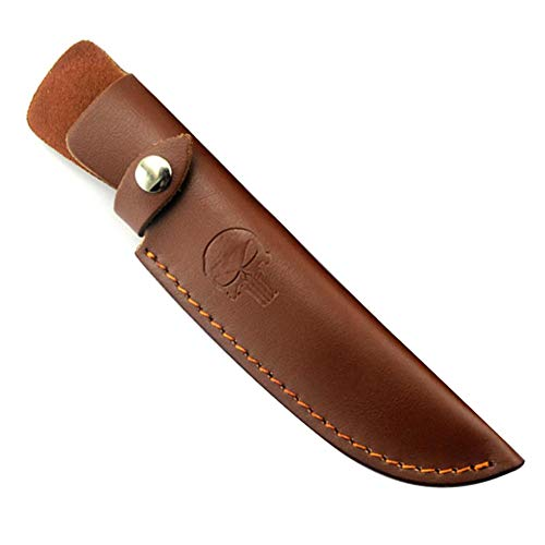 BETTERLE Brown Leather Fixed Blade Messer Scheide - Jagdmesser Leder Scheiden Universal Messer Taschen Knife Sheath (#1-L)