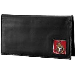 NHL Ottawa Senators Genuine Leather Deluxe Checkbook Cover