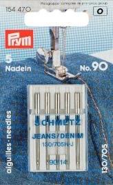 PRYM/Schmetz 154470Nadeln flach Kolben Replica für Jeans 130/705h-j 90, 5PCS Hj H H