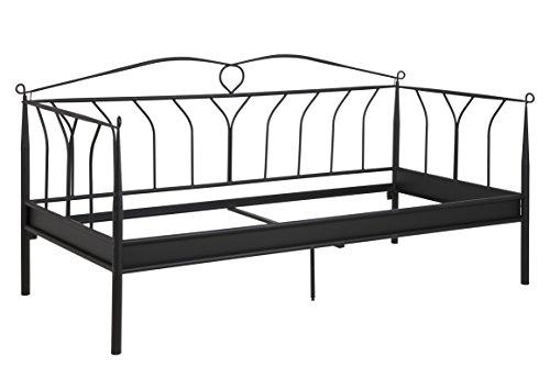 AC Design Furniture Bett Lis, B: 215 x T:99 x H: 105 cm, Metall, Schwarz