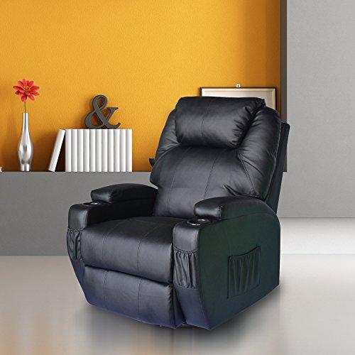 Homcom® Massagesessel Fernsehsessel mit Heizfunktion und Massagefunktion schwarz - 2