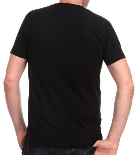 Venti Herren T-Shirt 2 er Pack Slim Fit 001650/800 Schwarz (800 schwarz)