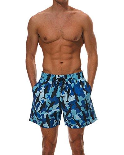 MODCHOK Homme Shorts de Bain Plage Natation Bermuda Pant Court de Sport Beach Séchage Rapide
