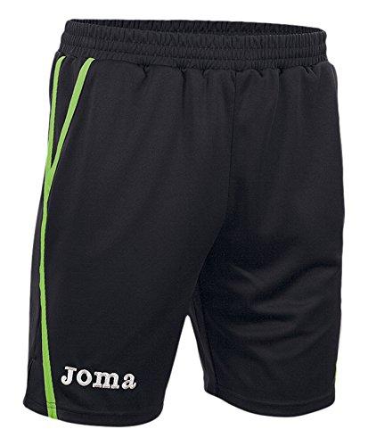 Joma Game Shorts Unisex Adulto, Multicolore (Nero/Verde ), L