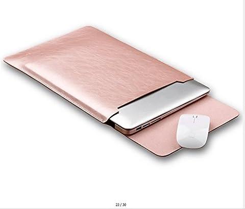 GENORTH® Résistant à l'eau Microfibre PU cuir Laptop Sleeve Pochette Sacoche Housse pour MacBook 12 pouces (Macbook 12