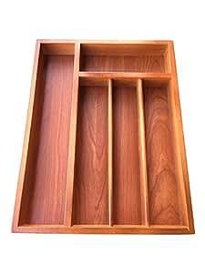 holz besteckkasten gro e k che schublade organizer aufbewahrung 5 f chern aus holz. Black Bedroom Furniture Sets. Home Design Ideas