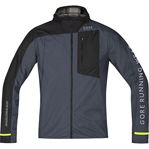 GORE WEAR Herren Jacke Fusion Windstopper Active Shell Jacket Graphite Grey/Black, M - Mens Fusion Jacke