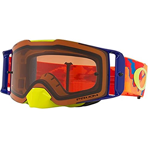Oakley Frontline Motocross Goggles THERMO Camo Orange Prizm Bronze Iridium Lens