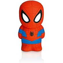 Philips Marvel Spiderman - Peluche luminoso, con pilas, luz blanca cálida, bombilla LED de 0,18 W, color rojo y azul