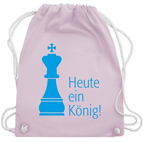 JGA Junggesellenabschied - Heute ein König - Unisize - Pastell Rosa - WM110 - Turnbeutel & Gym - Der König Und Ich Kostüm