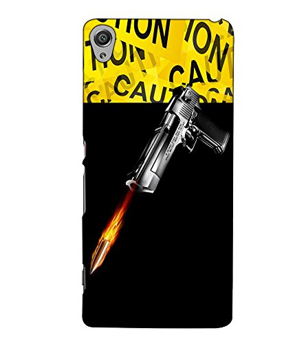 Fuson Designer Back Case Cover for Sony Xperia X :: Sony Xperia X Dual F5122 (A gun and bullete theme)  available at amazon for Rs.397