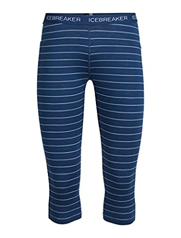 Icebreaker Damen Oasis Legless Funktionshose, Largo/Ice Blue/Stripe, L