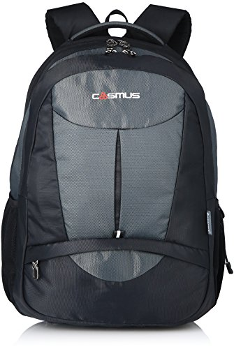 Cosmus-Eden-DX-Black-Grey-Polyester-Waterproof-Large-Laptop-Backpack