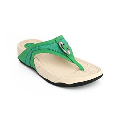Lord's Women's Fit Flop Green Slippers Size - 10 -4669N101699