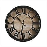 LYXPUZI Kreative europäische Retro Wohnzimmer Uhr wanduhr/Home alte benutzerdefinierte dekorative Uhr/stumm Uhr 37 cm