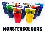Lebensmittelfarbe flüssig 9 x 20ml Tuben Monstercolours