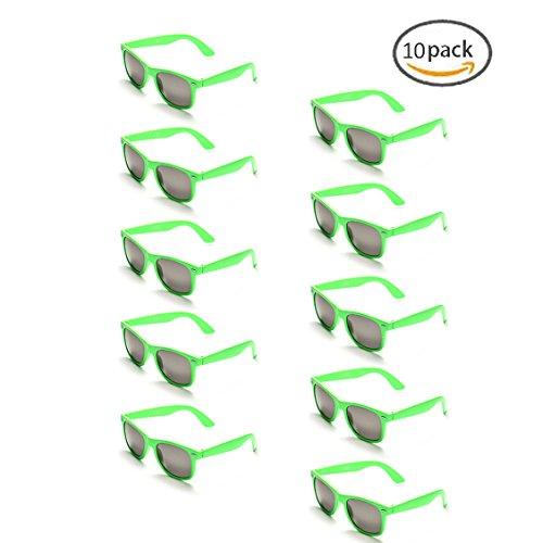 ONNEA 10 Paare Party Favors Sonnenbrille Set Sommer Kinder Damen (Grün 10-Pack)